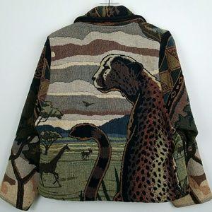 Jackets & Blazers - Vintage Animal Print Jacket